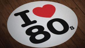 Pegatina I Love 80s
