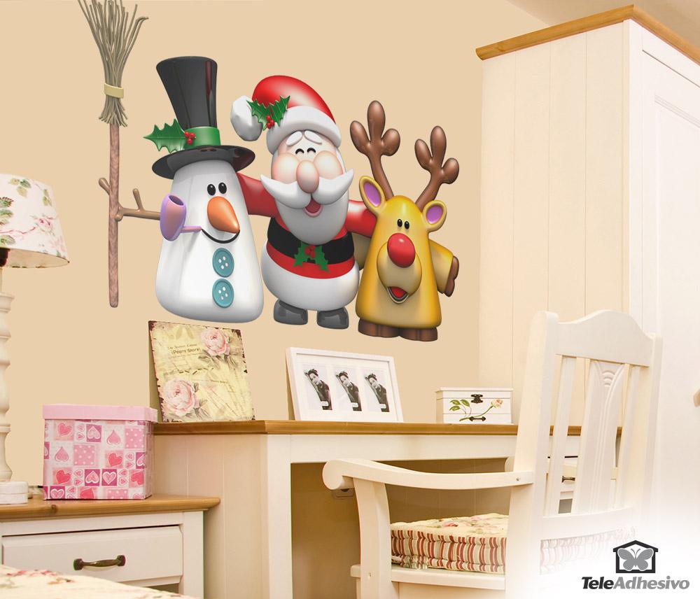 16b362ca2d3fc vinilos-decorativos-muneco-de-nieve-papa-noel-y-
