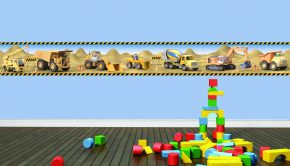 Cenefa de maquinaria de construcción vinilos-infantiles-cenefa-construccion