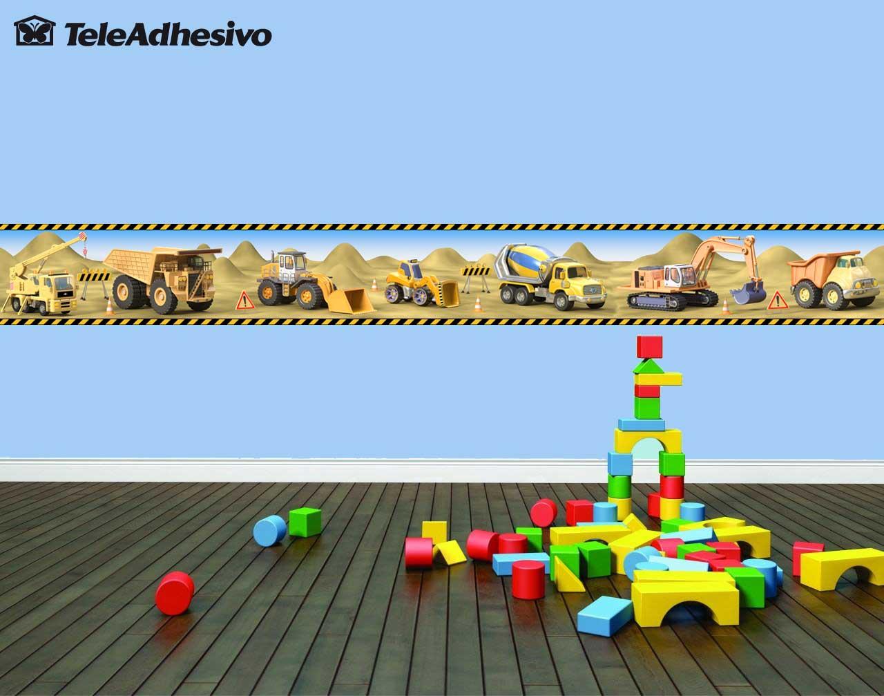 Cenefa de maquinaria de construcci n blog teleadhesivo - Cenefas de papel infantiles ...