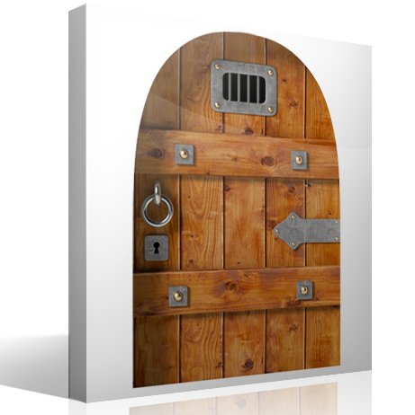 Vinilo puerta de un castillo medieval blog teleadhesivo for Decoracion de puertas infantiles