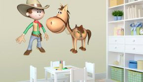 vinilos-infantiles-cowboy-y-su-caballo