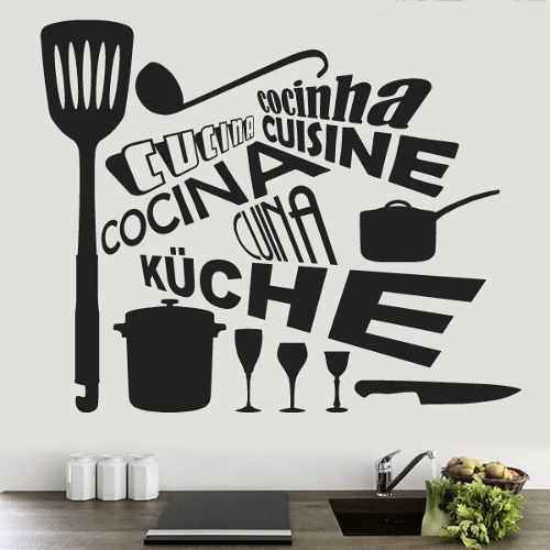 Vinilos para cocina for Phrases murales