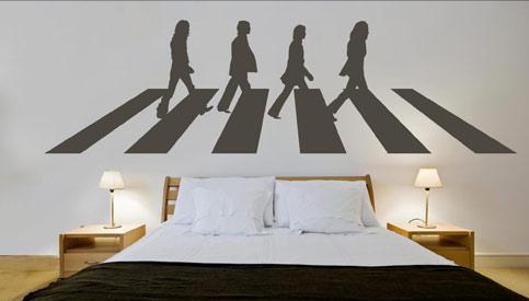 Vinilo de Los Beatles para dormitorio juvenil