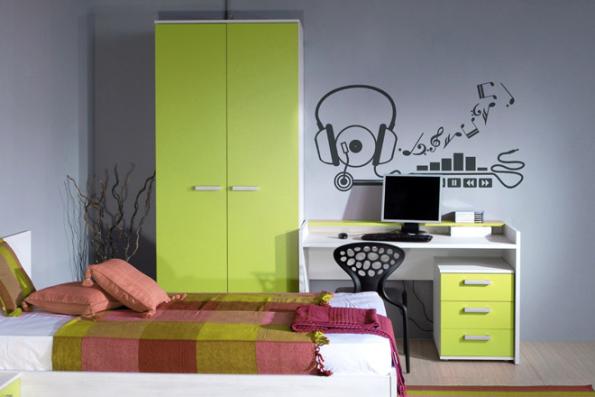 Vinilos para dormitorios juveniles for Pegatinas de decoracion para dormitorios