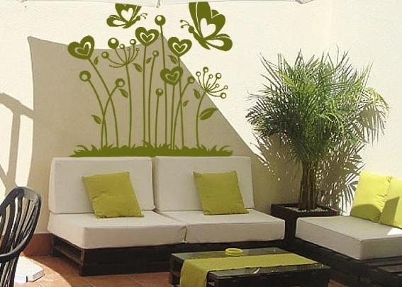 Vinilos en las terrazas for Sofas para terrazas pequenas