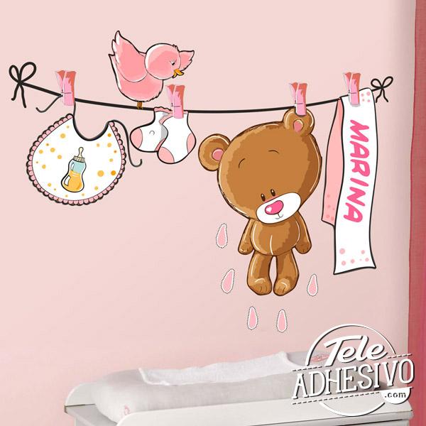 Vinilo osito para habitación de bebé