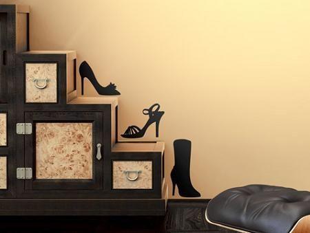 Vinilo de zapatos for Zapateros decorativos