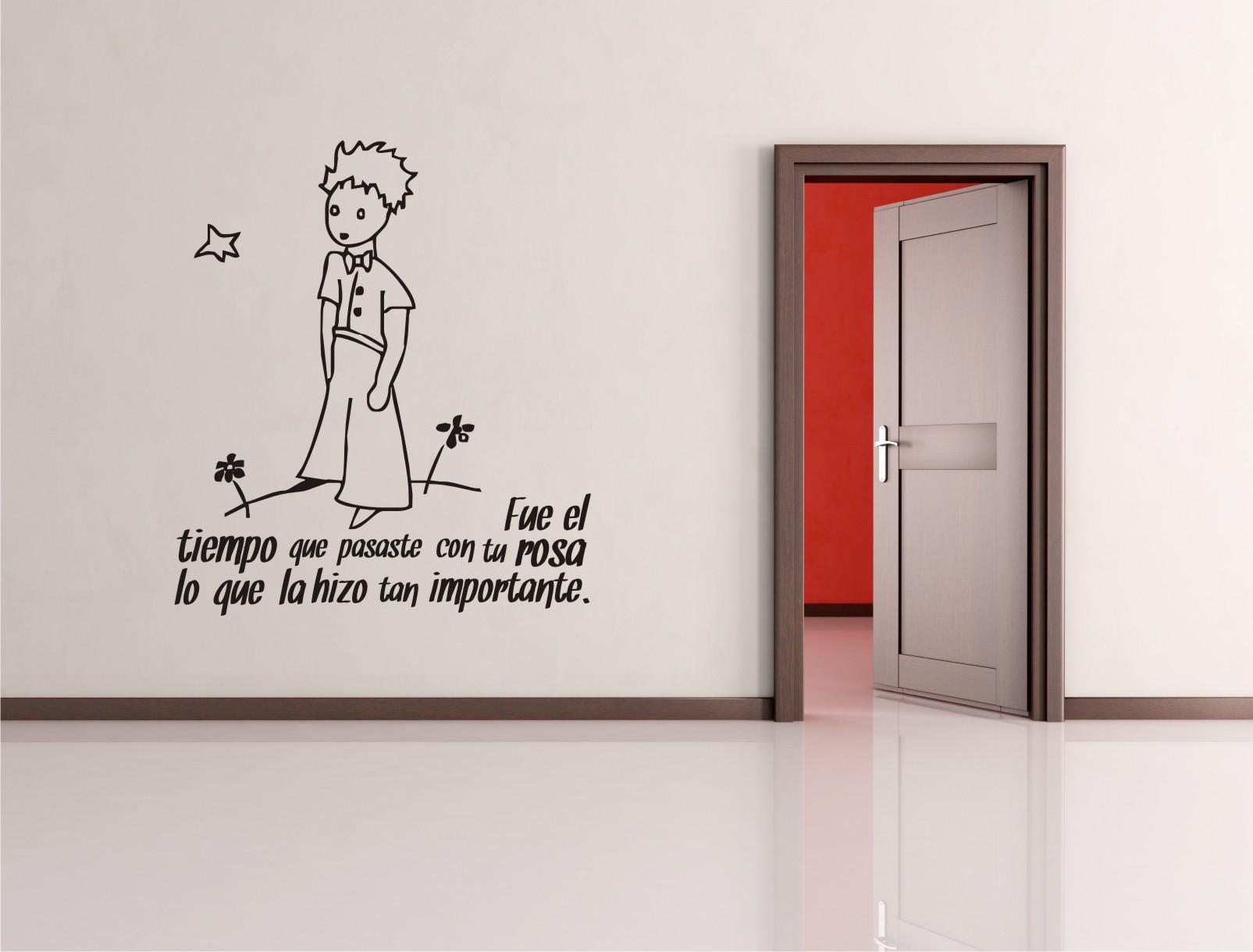 El principito en vinilo for Vinilos para pared habitacion matrimonio