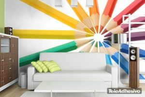 Mural de lapices de colores