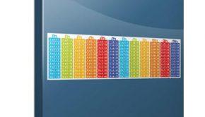 Vinilo adhesivo con la imagen de las tablas de multiplicar, una de las ideas sobre como decorar una guardería.