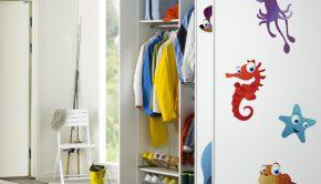Vinilo adhesivo con la imagen de animales marinos ideal para decorar baños infantiles