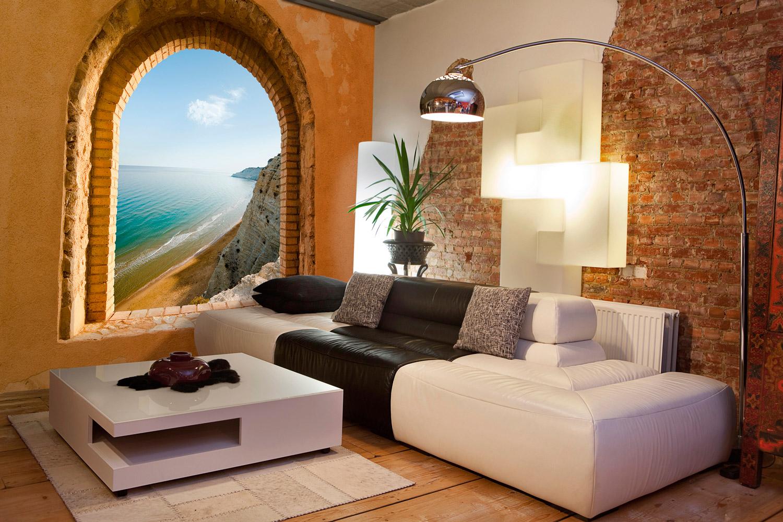 Nuevo estilo de decoraci n utilizando vinilos trampantojos for Vinilos habitacion matrimonio