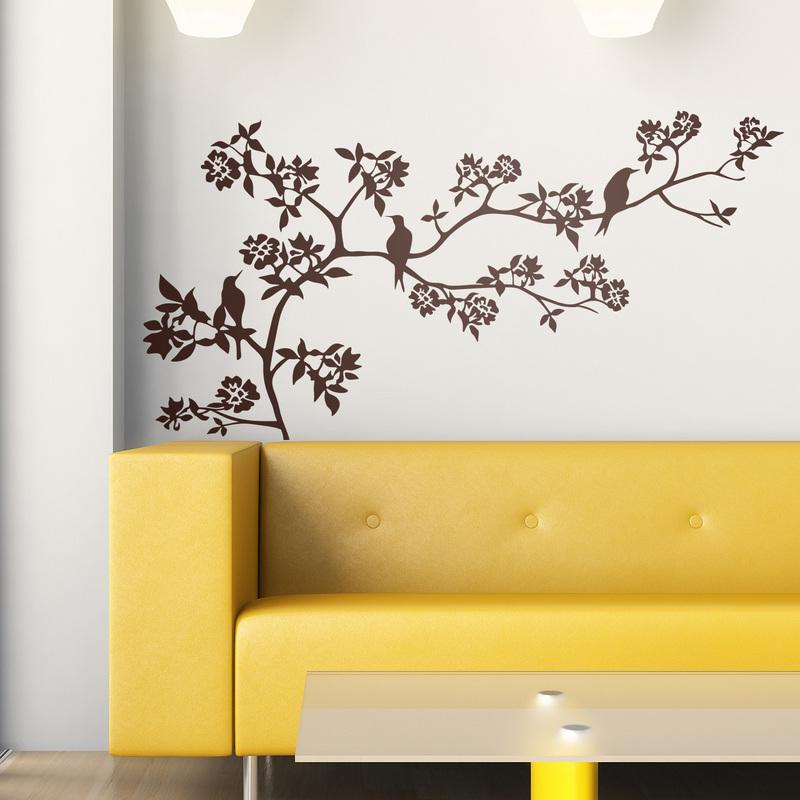 Ideas para decorar una casa con vinilos florales for Vinilos decorativos habitacion matrimonio