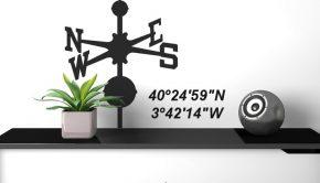 Vinilo con coordenadas GPS