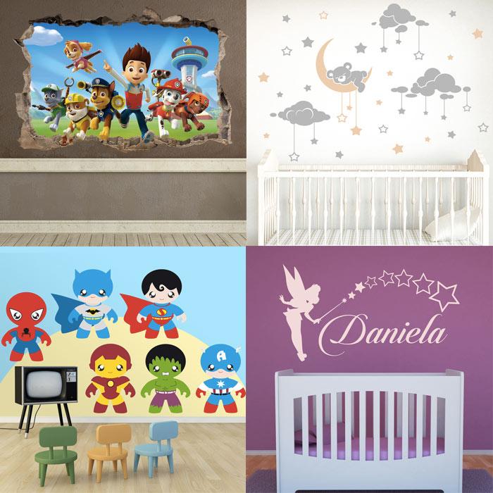 Decorar la habitaci n del beb con vinilo blog teleadhesivo for Habitacion con vinilo