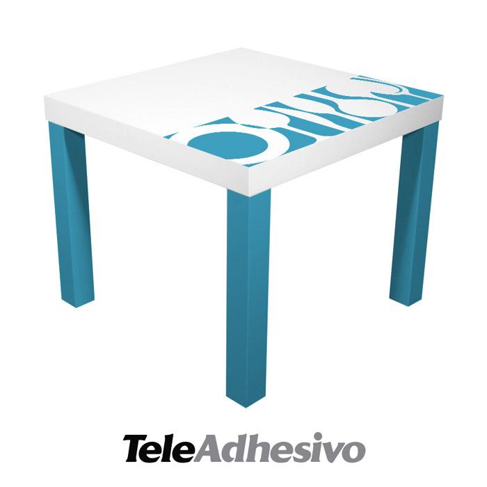 Decora tu mesas lack de ikea con vinilo adhesivo blog for Vinilo decorativo ikea