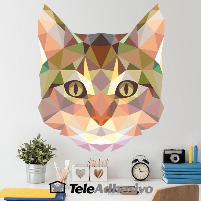 Vinilo origami gato