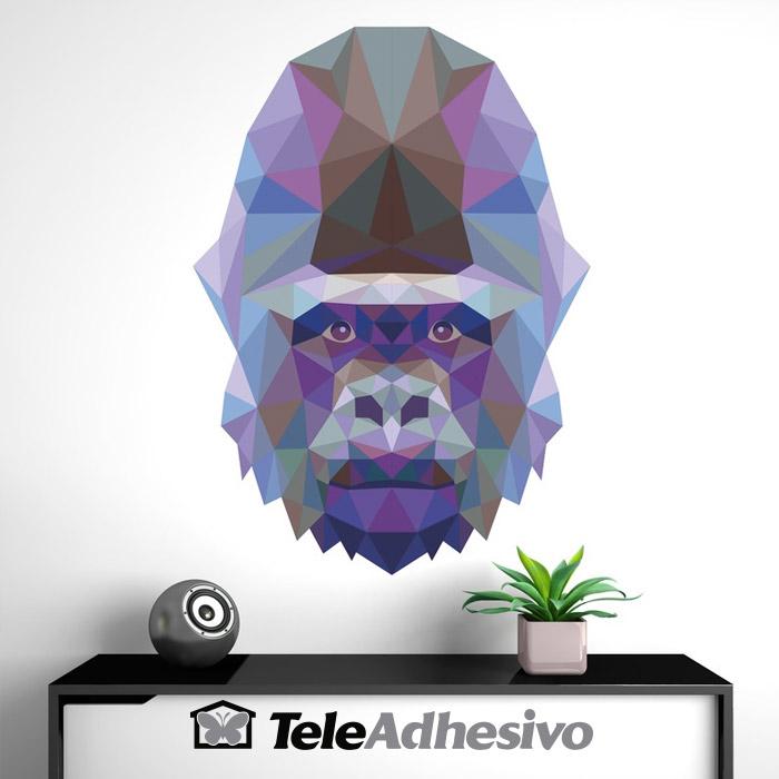 Vinilo origami gorila