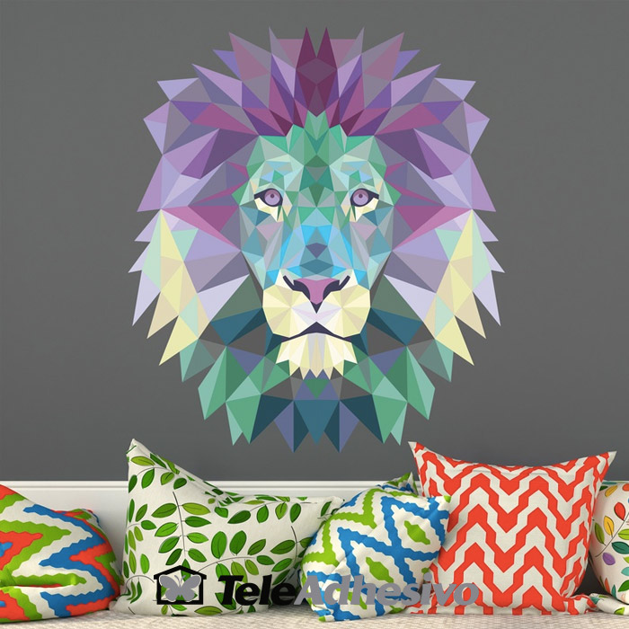 Vinilo origami león