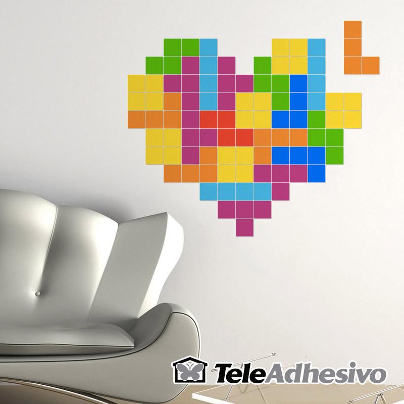 Dise os de vinilo de pared con fichas de tetris blog for Disenos de vinilos