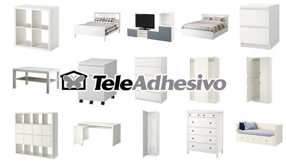 Muebles de ikea para personalizar blog teleadhesivo for Pegatinas para muebles