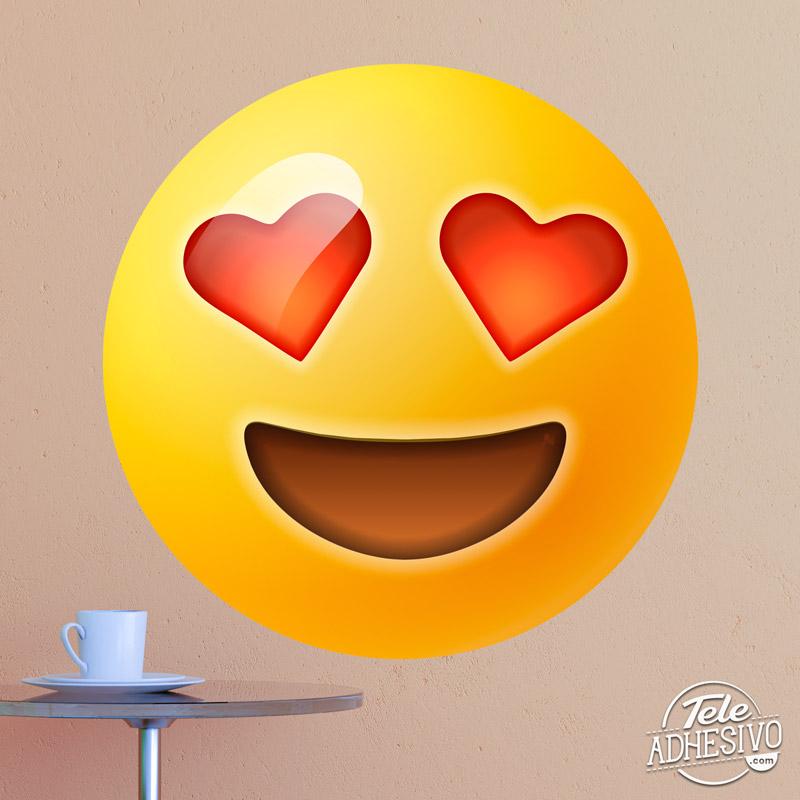 Emoticono emoji vinilo corazones