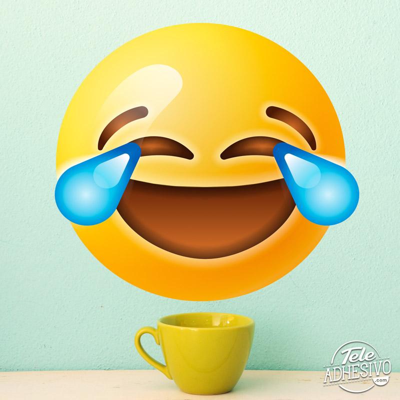 Emoticono emoji vinilo risa
