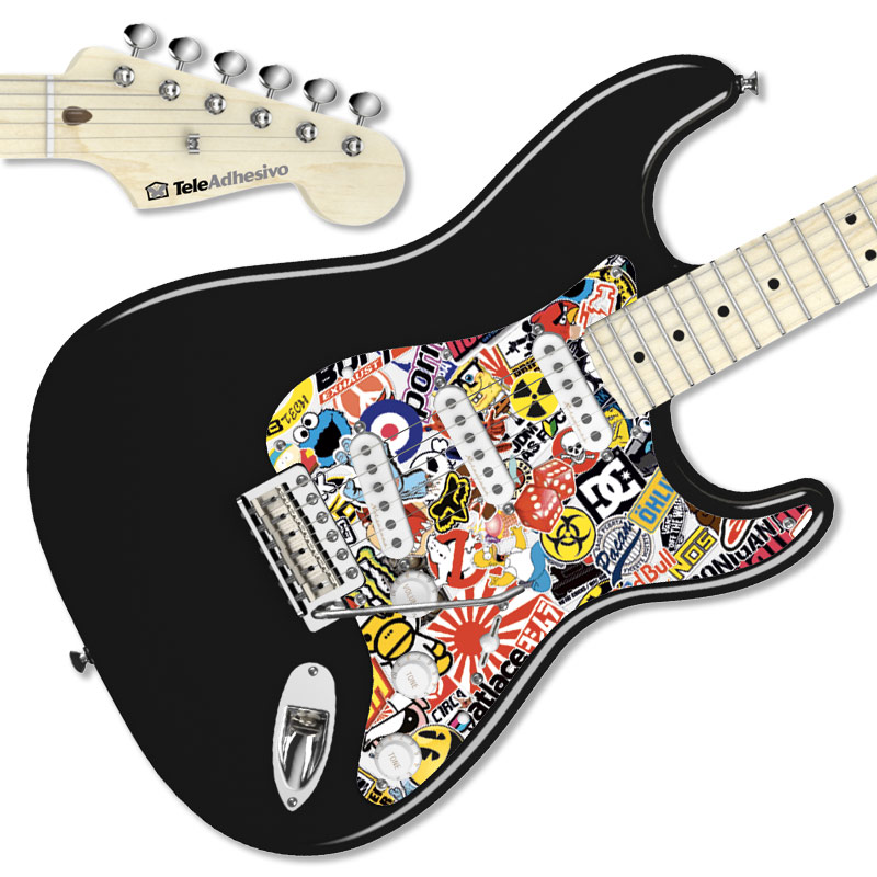 Pegatina guitarra Sticker Bomb interior
