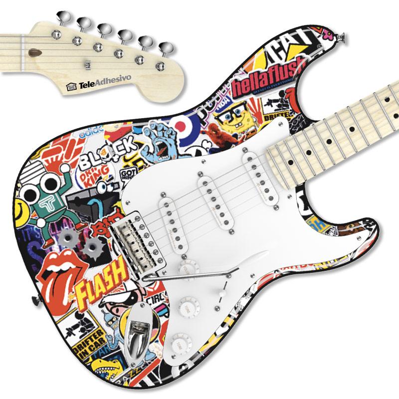 Pegatina guitarra Sticker Bomb exterior