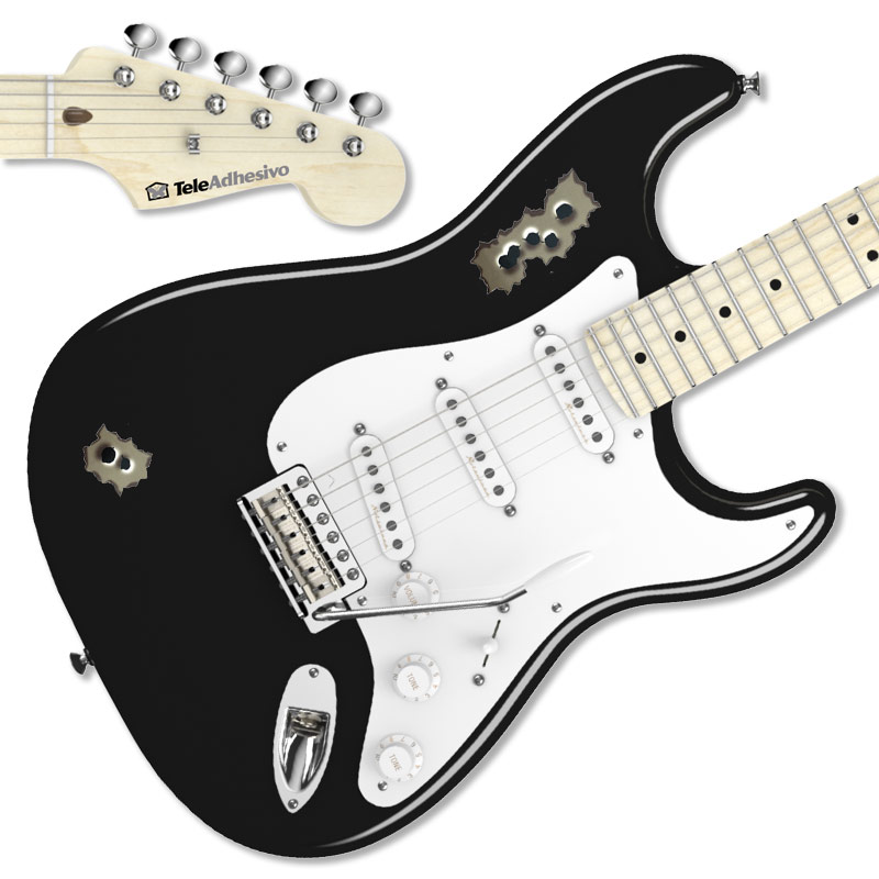Pegatina guitarra balazos