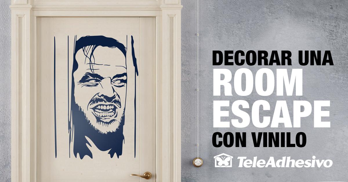 Decorar un room escape con vinilo blog teleadhesivo - Teleadhesivo vinilos decorativos espana ...