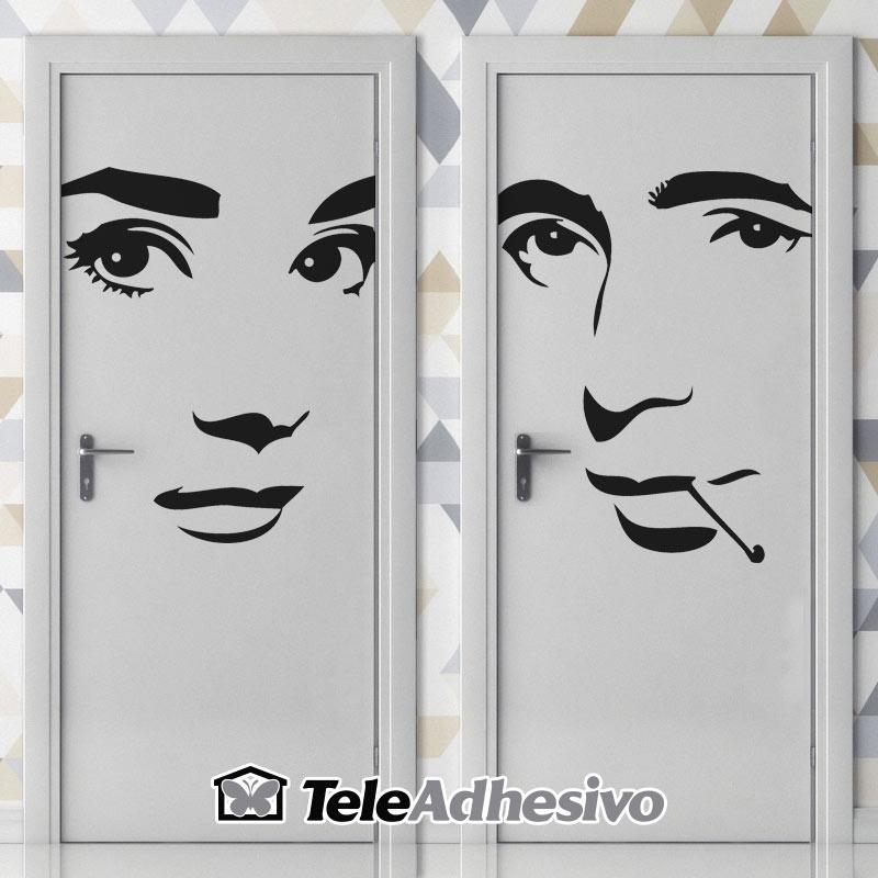 Señal de WC de Audrey Hepburn y Humphrey Bogart