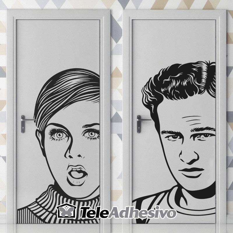 Señal de WC de Twiggy y Marlon Brando
