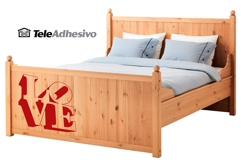Vinilo cama Ikea (LOVE)