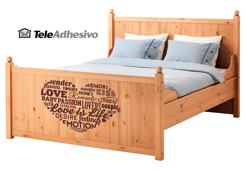 Vinilo decorativo para cama de Ikea