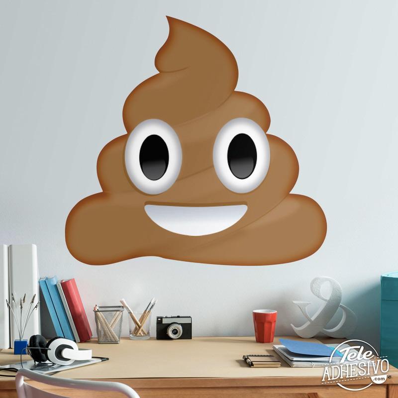 Vinilo emoticono Emoji caca Whatsapp