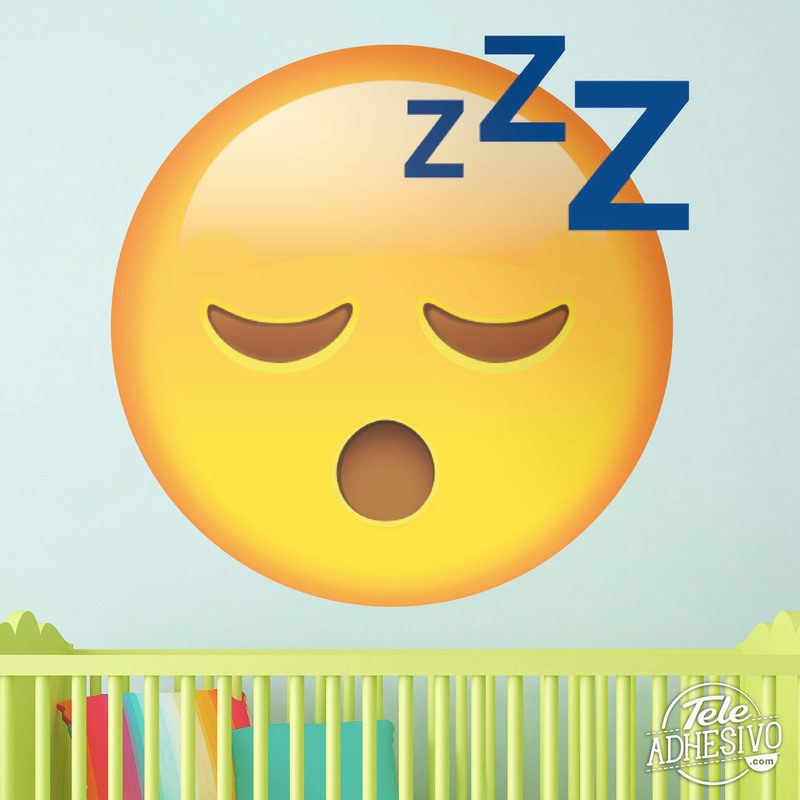 Vinilo emoticono Emoji durmiendo