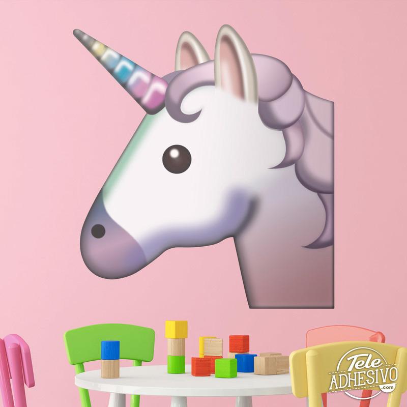 Vinilo emoticono Emoji Unicornio