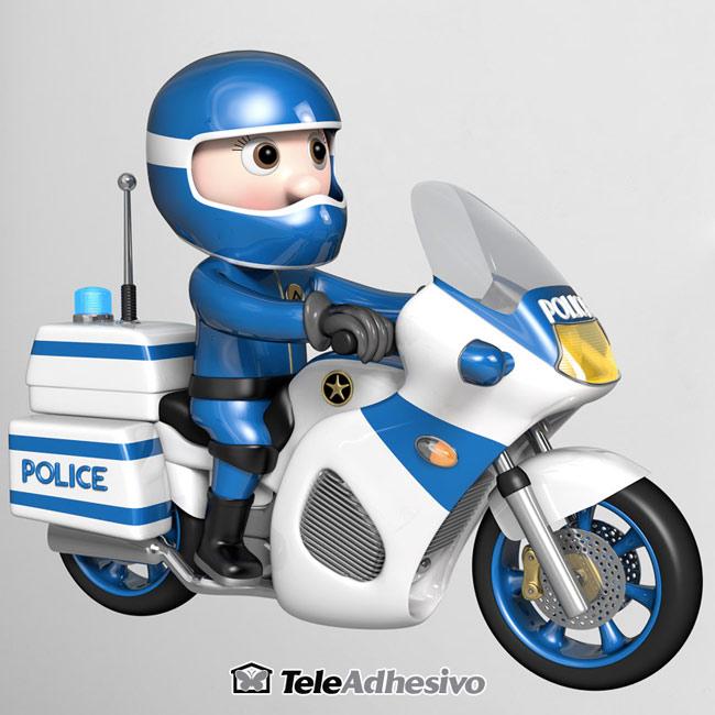 Vinilo infantil pared policía