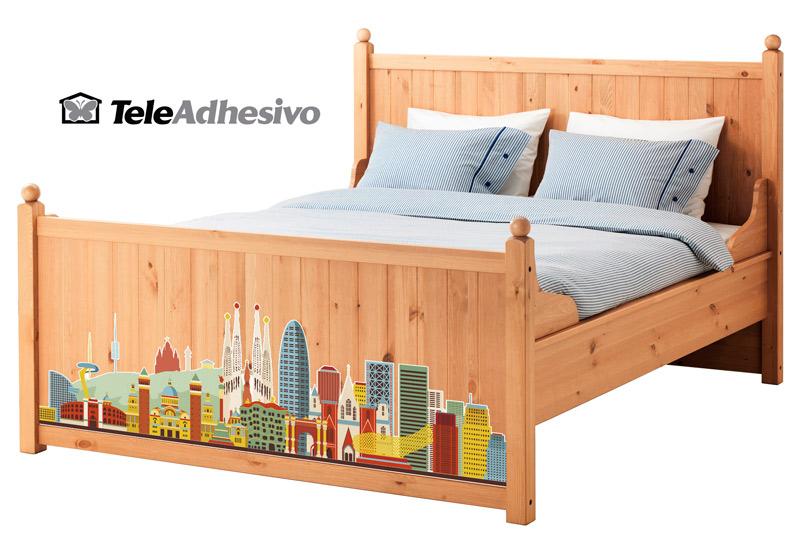 Vinilos para decorar tu pie de cama blog teleadhesivo for Vinilos ikea catalogo