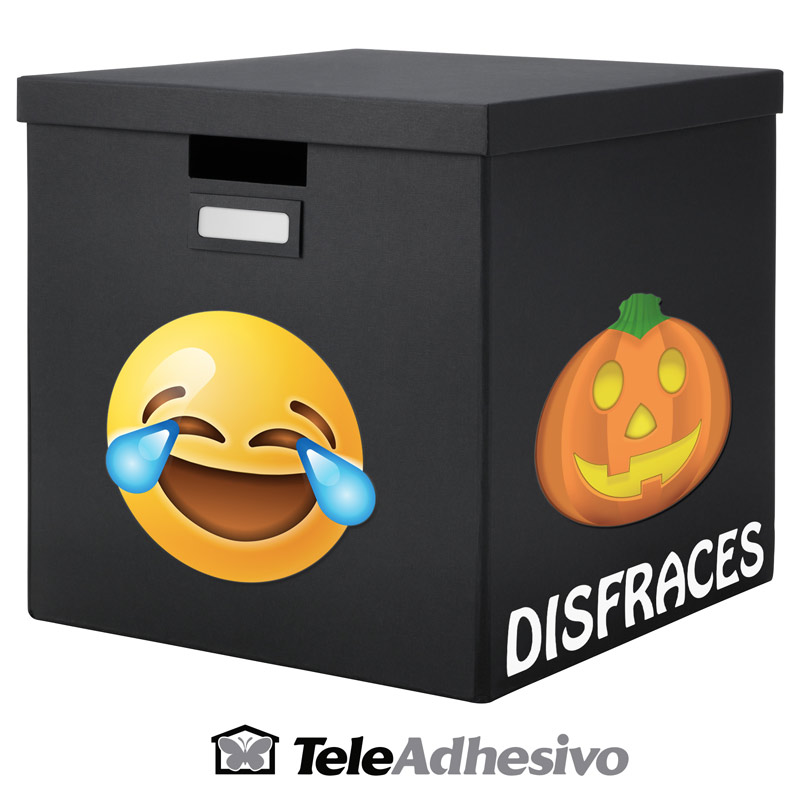 Decorar caja de disfraces con Emoji