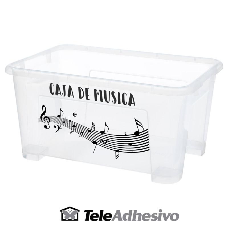 Decorar caja con motivos musicales
