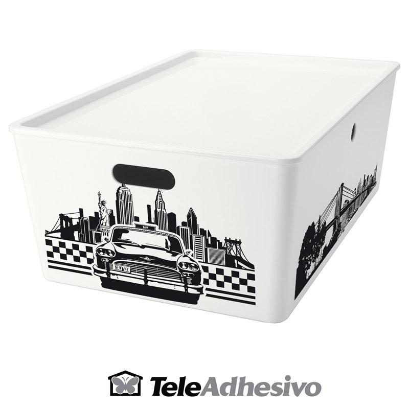 Decorar caja con motivos de Nueva York