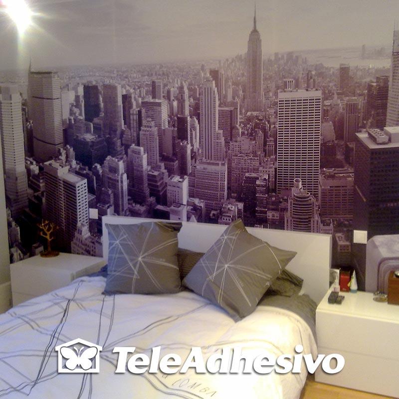 Fotomural cabecero cama Nueva York