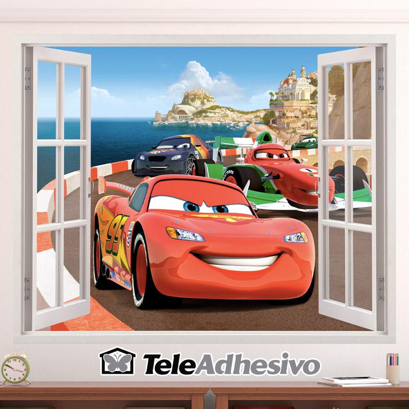 Vinilo Cars Rayo McQueen Disney