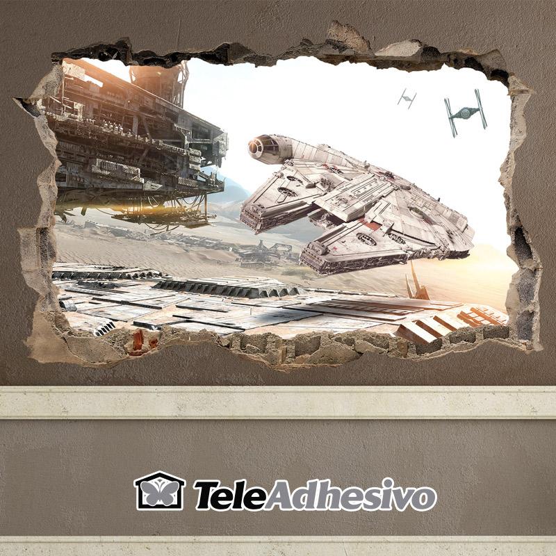 Vinilo Halcón Milenario Star Wars