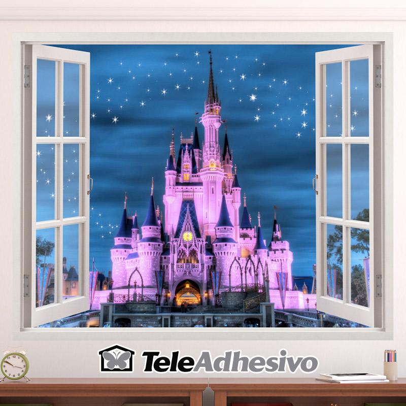 Vinilo ventana a castillo Disneyland París