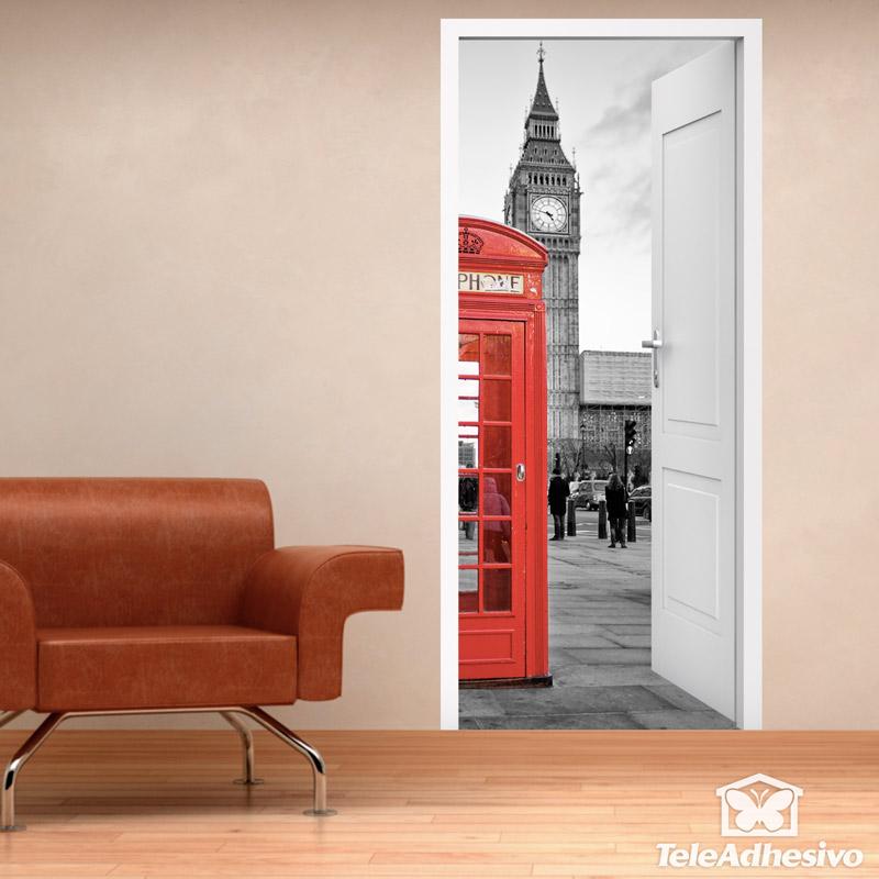 Puerta fotomural Londres