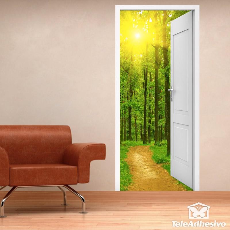 Puerta fotomural paisaje